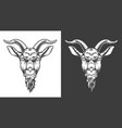 monochrome goat icon vector image