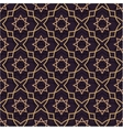 Oriental seamless pattern of purple and gold Thin vector image vector image