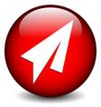 paper plane icon vector image