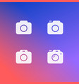photo camera icon set isolated modern simple vector image