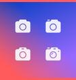 Photo camera icon set isolated modern simple