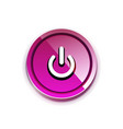 power button icon start symbol web design ui or vector image