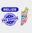 Production belize map and distress pro edition