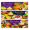 ramadan food iftar biryani eid mubarak meals menu vector image vector image