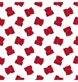 red flat armchair seamless pattern vector image vector image