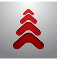 Red techno 3d christmas tree vector image vector image