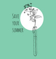 save your summer ready design template for vector image vector image
