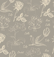 Seamless pattern with calla lily tulip orchid and vector image vector image