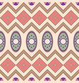 seamless pattern with geometrical motives vector image vector image