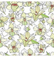 seamless pattern with white orchids endless vector image vector image