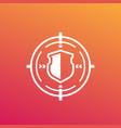 security breach cyber attack icon vector image vector image