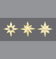 set golden stars with glitter christmas vector image vector image