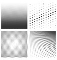 set halftone black pattern isolated on a white vector image vector image