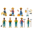 Set of agricultural with farmers vector image
