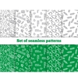 Set of seamless patterns Back to school vector image