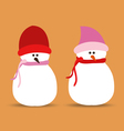 set of snowmans for christmas design vector image vector image