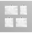 set white reusable plastic shopping bags vector image vector image