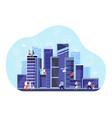 smart city concept downtown internet vector image vector image
