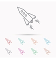 Startup business icon Rocket sign vector image vector image