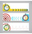Stopwatch banners horizontal vector image vector image