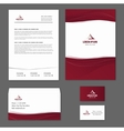 Template corporate style vector image vector image