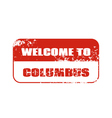 Welcome to Columbus stamp