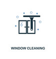 window cleaning icon creative two colors design vector image
