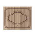 wooden background with frame icon