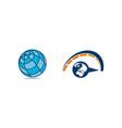 world globe logo design template set vector image vector image
