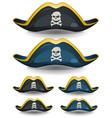 pirate hat set vector image