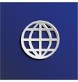 Paper globe vector image
