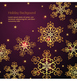 Holiday winter background vector image