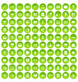 100 e-commerce icons set green circle vector image vector image