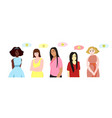 a set of people expressing different emotions vector image