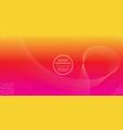 abstract line gradation yellow magenta color vector image vector image