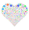 automation fireworks heart vector image vector image