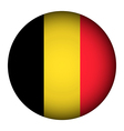 Belgium flag button vector image vector image