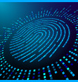 big data fingerprint visualization processing vector image