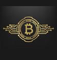 bitcoin abstract golden symbol of internet money vector image