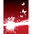 butterfly splash background vector image vector image