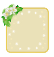 Christmas decoration frame with flowers and holly vector image vector image
