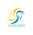 cleaning logo design vector image vector image