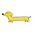 comic cartoon dachshund vector image