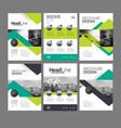 company flyer set vector image vector image
