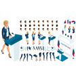 create your isometric character 3d woman vector image