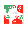 creative square card with red pomegranate natural vector image vector image
