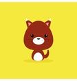 Cute Cartoon Wild fox vector image