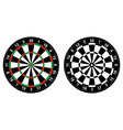 Dartboard vector image