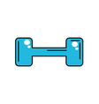 dumbbell instrument to do exercise in the gym vector image vector image