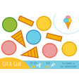 education paper game for children ice cream vector image vector image